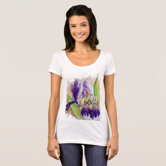 Purple Iris with a Fairy T-Shirt
