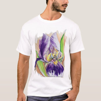 Purple Iris with a Fairy T-Shirt