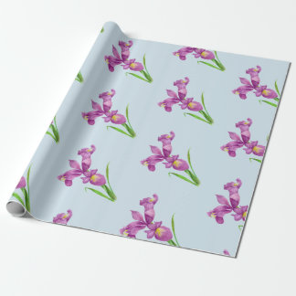 Purple Iris Wrapping Paper for any occasion