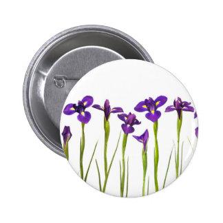 Purple Irises - Iris Flower Customized Template 2 Inch Round Button