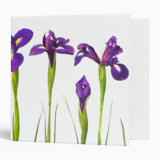Purple Irises - Iris Flower Customized Template Binders