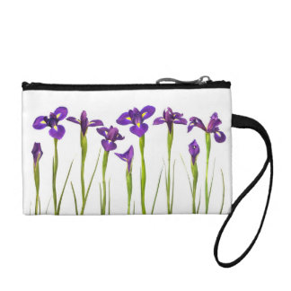 Purple Irises - Iris Flower Customized Template Coin Purse