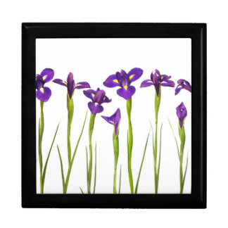 Purple Irises - Iris Flower Customized Template Gift Box