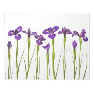 Purple Irises - Iris Flower Customized Template Notepad