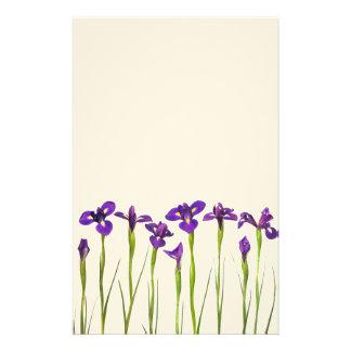 Purple Irises - Iris Flower Customized Template Stationery