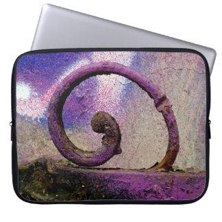 Purple iron. laptop sleeve