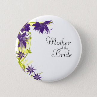 Purple Island Wedding Flowers Mother of the Bride 2 Inch Round Button