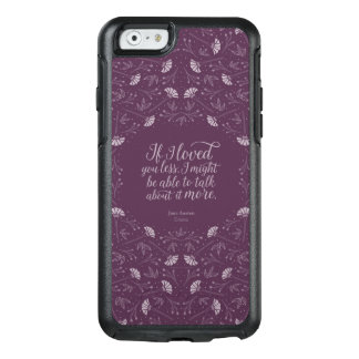 Purple Jane Austen Emma Book Floral Love Quote OtterBox iPhone 6/6s Case
