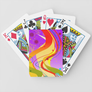 Purple Jazz Background Bicycle Playing Cards