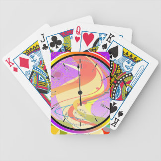 Purple Jazz Midnight Clock Bicycle Playing Cards