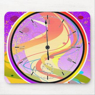 Purple Jazz Midnight Clock Mouse Pad