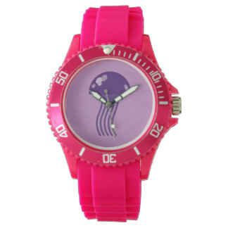 Purple Jellyfish Wrist Watch