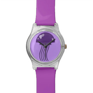 Purple Jellyfish Wristwatches
