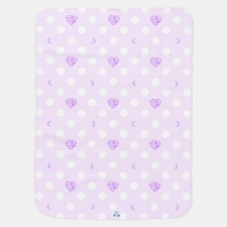 Purple Jewel and Polka Dots Baby Blanket