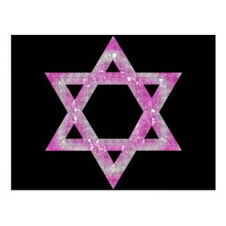 Purple Jeweled Star of David Design Postcard
