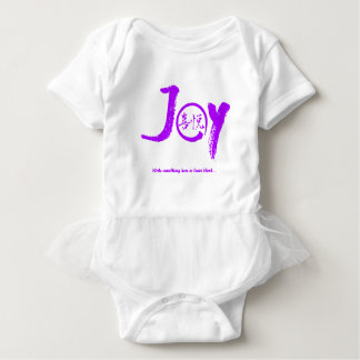 "Purple joy kanji inside enso circle ""Joy"" tutu Baby Bodysuit"