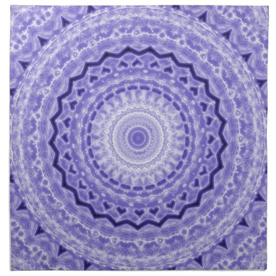 Purple Joy Mandala Kaleidoscope Pattern Napkin