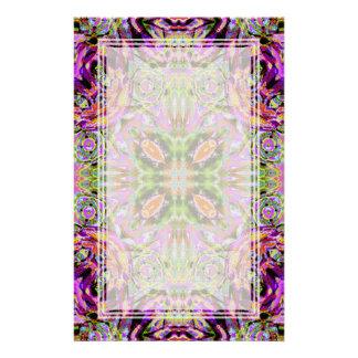 Purple Kaleidoscope Blank Stationery