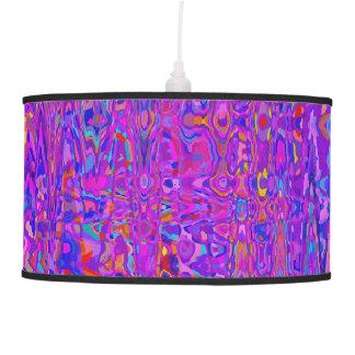 Purple Kaleidoscope Hanging Lamp