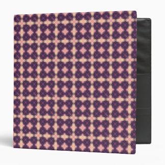 Purple Kaleidoscope Pattern Binders