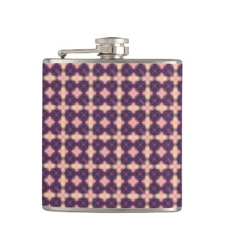 Purple Kaleidoscope Pattern Hip Flask