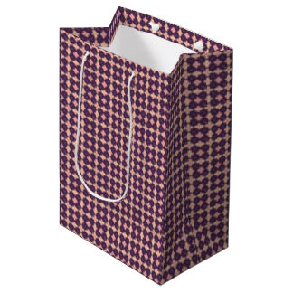 Purple Kaleidoscope Pattern Medium Gift Bag