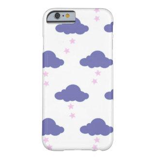 purple kawaii clouds iphone case