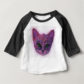 PUrple Kitten Baby T-Shirt