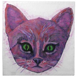 PUrple Kitten Napkin