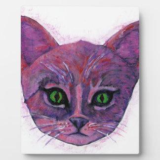 PUrple Kitten Plaque