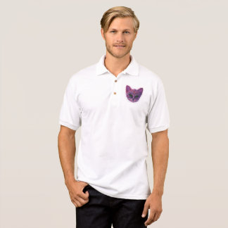 Purple Kitten Polo Shirt