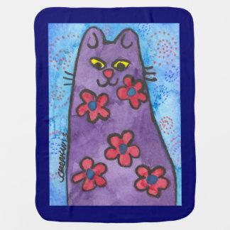 Purple Kitty Baby Blanket