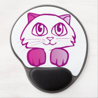 Purple Kitty Gel Mouse Pad