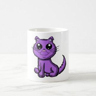 Purple Kitty Mug