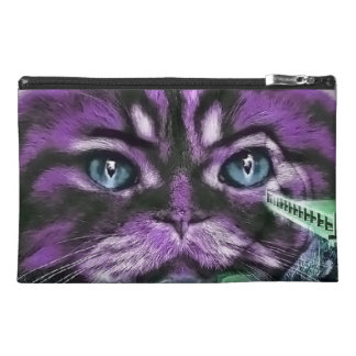 Purple Kitty Travel Accessory Bags