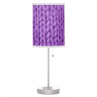 Purple Knit (faux knitted photo texture) Table Lamp