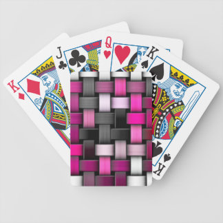 Purple knitted texture bicycle playing cards
