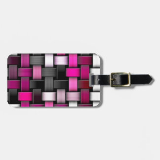 Purple knitted texture luggage tag