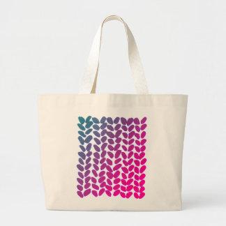 Purple knitting bag