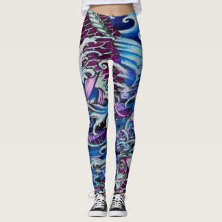 Purple Koi Leggings