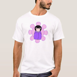 Purple Kokeshi Doll Plus SIze T-Shirt