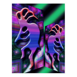Purple Kokopelli Abstract Postcard