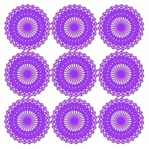 Purple lace design. photo cutout
