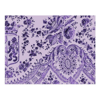 Purple Lace Flowers Postcard