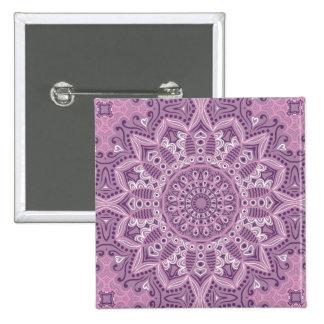 Purple Lace Pattern 2 Inch Square Button