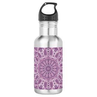 Purple Lace Pattern 532 Ml Water Bottle