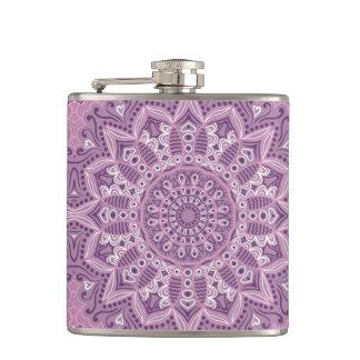 Purple Lace Pattern Hip Flask