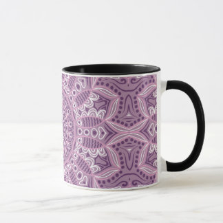 Purple Lace Pattern Mug