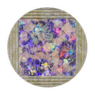 Purple Lace Roses Cutting Board