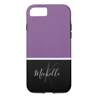 Purple Ladies Classy Monogram Case-Mate iPhone Case
